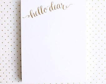 ON SALE | Gold Foil Notepad Set of 3: Hello Dear Notepads