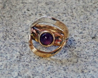 Nugold ring with Amethyst