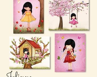 Kids room wall art, Kids art prints, girls room pictures, girls room art,Children's Wall Art,girls room decor,pink nursery art,kids wall art