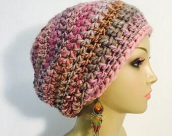 Beautiful Pink Crocheted Tam