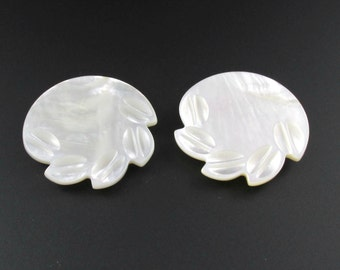 Mother of Pearl Dress Clips, Mother of Pearl Shoe Clips, Shell Dress Clips, Dress Clip Pair, Shell Shoe Clips