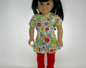 18 inch doll clothes made to fit dolls such as American Girl®, Tunic and Leggings, 01-0809