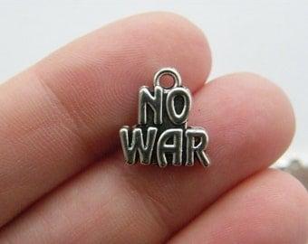 4 No war charms antique silver tone M580
