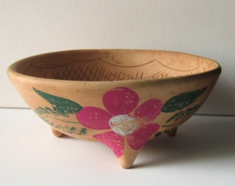 Vintage Mexico Pottery Bowl
