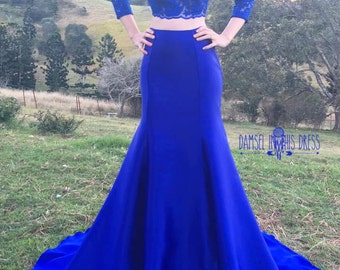 Royal Blue Bridesmaid Gown/ Formal Dress