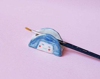 Girl Brush Holder, Girl Pen/ Pencil Holder