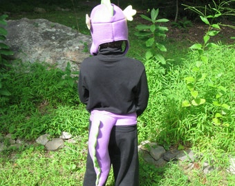 Spike - My Little Pony Costume Set - Hat, Tail, Claw Feet and Fingerless Gloves