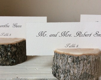 30 Escort Card Name Card Holders - Rustic Chic - Wedding  - Woodland Variety