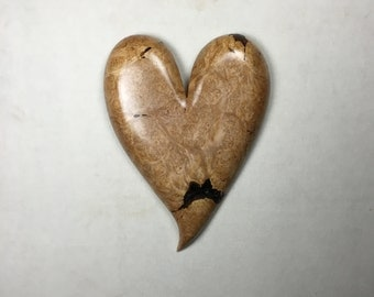 Maple Burl Personalized 5th Anniversary gift wooden heart present