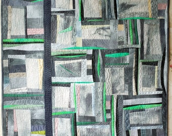 Art quilt, abstract quilt, wall hanging- Breaking Through