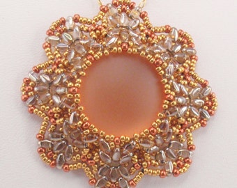 Instructions for Star Seed Pendant  Beading Tutorial