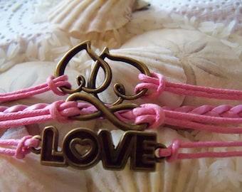 Love of Two Hearts Bracelet
