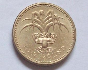 Welsh Leek 1985 British Pound Coin