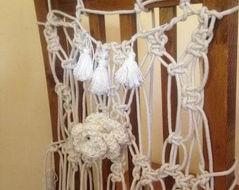 Macrame Wedding Chair Cover