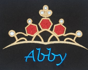 Disney's Snow White inspired t-shirt w embroidered Snow White Tiara and personalized w your name - perfect for Disney fans