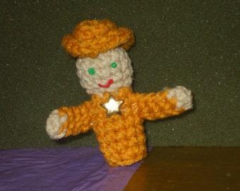 sheriff  finger puppet