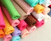 Polka Dot Felt - You Choose 10 9x12 inch sheets