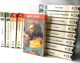 vintage 90's PBS the kay toliver files VHS video library collection educational learning math school polygons percent ratio patterns volume