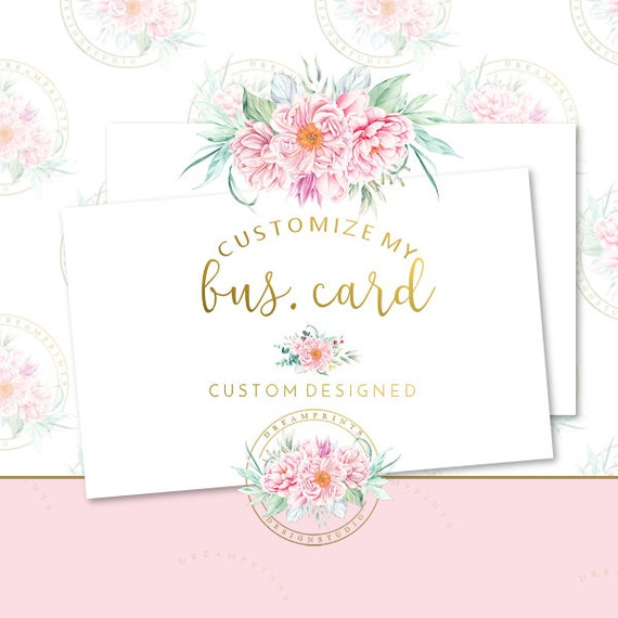 Customize My DIY Business Card | Business Set | Business Branding | Business Package | Premade DIY