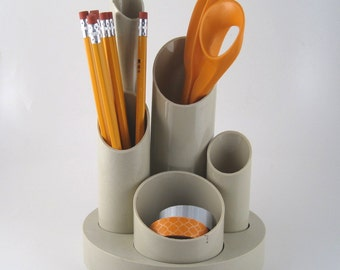 desk caddy - desk organizer - desk accessory - pencil holder - desk tidy - supply holder - supply organizer - 80's desk accessory