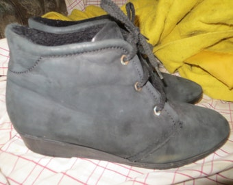 vtg  GERMANY semler luftpolster suede leather  ankle boots  womens size 10