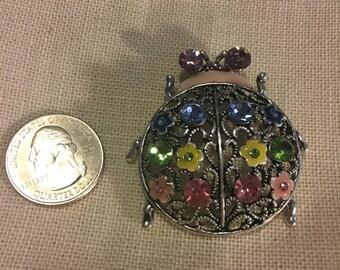 Rainbow Lady bug Crystal Enamel NEEDLE MINDER Cross Stitching-Cross Stitch-Embroidery-Hand Embroidery-Needlepoint