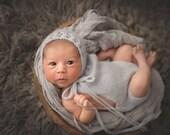 PDF Knitting Pattern - Knit Romper Pattern - Newborn Photo Prop Pattern