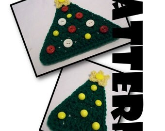 Crochet Pattern: Christmas Tree Ornaments, Coasters, Appliques, Decorations; included are stiffening options