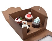 5 window kraft tote boxes for cup cake (4 hd type)