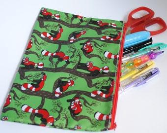 Red Panda Pencil/Cosmetic Bag
