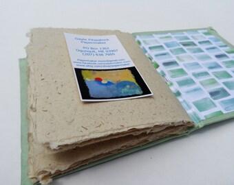 Unique Hand Bound Celadon Book of Handmade Hemp Paper