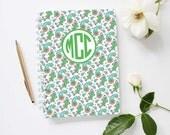 Monogram Mini Journal | Paisley Pattern | Personalized Notebook | Custom Colors