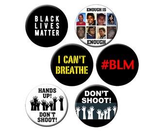 """Choose a Magnet - Black Lives Matter - Choose from 6 Different """"Black Lives Matter"""" Designs on a 2.25"""" Round Fridge Magnet"""