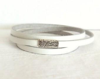 Bohemian Cuff Bracelet - White - Bohemian Bracelet - Everyday Bracelet