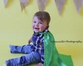 Toddler's Green Cape - Handmade, Dress Up, Costume, Halloween, Cloak, Children's, Kid's, Child's, Superhero, King, Queen, Princess, Prince
