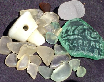 Sea Glass or Beach Glass of Hawaii COCA-COLA pc! Bottle STOPPERS! Sea glass with writing! Bulk Sea Glass! Sea Glass Bottle Stoppers!