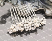 Bridesmaid hair comb Wedding comb,Pearl Bridal hair comb,Vintage inspired Wedding hair comb,Wedding hair accessories,Wedding hair piece,comb