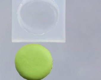 Large real-size macaron soft mold. Floree silicon macaron mould/mold. Suitable for clay or UV resin.
