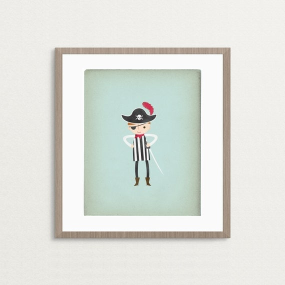 Little Pirate Boy - Customizable 8 x 10 Archival Art Print