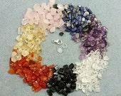 Sterling Silver Chakra Gemstone Bracelet size 7.5