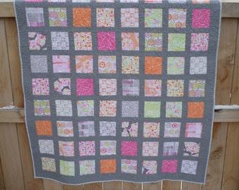 Palermo Lap Quilt - Handmade Patchwork