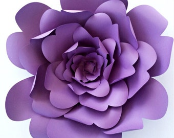 Paper flower template, DIY paper flower pattern, paper flower tutorial, paper flower backdrop, large paper flower template, wedding decor