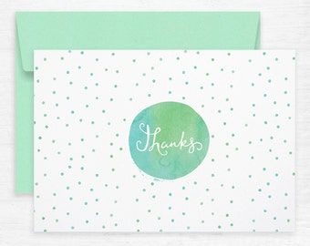 Thanks Watercolour Greeting Cards – Pack of 10