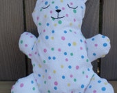 Multicolored Polka-dot Flat Flannel Teddy Bear