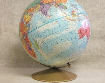 Globe , World Globe , Mid-Century , Sphere , Geography , Planet Earth , Earth , School Globe , Globe on Base , Wooden Base , Globes , Maps