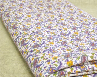 Fabric , Yardage , Paisley Fabric , Poly Cotton , Dress Fabric, Sewing Supplies, Material, Purple, Lavender, Sewing Supplies, Craft Supplies