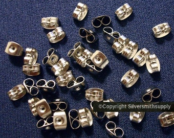 40 Surgical steel butterfly post earring backs (clutches) wire nuts 4x6mm fpe020