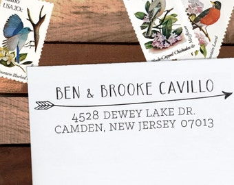 Custom Address Stamp, Personalized Address Stamp, Calligraphy Stamp, DIY, Boho Wedding Address Stamp, Eco Mount or Self Inking - Cavillo