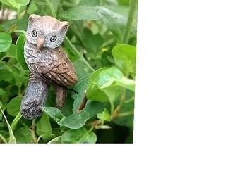 "Hooty the 1"" Hoot Owl on Metal Pick"