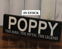 Personalized Man Sign/ The Man, The Myth, The Legend/Shelf Sitter/Fathers Day Gift/Gift/POPPY/Wood Sign